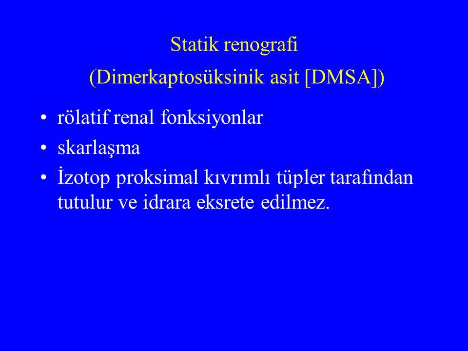 Statik renografi (Dimerkaptosüksinik asit [DMSA])